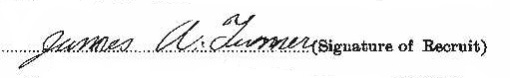 James Alfred Turner signature