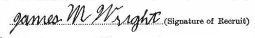 James Malcolm Wright signature