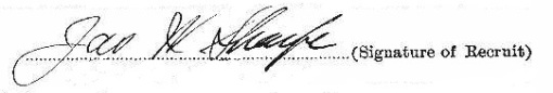 James Wilmont Sharpe signature