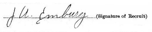 Joseph Allan Embury signature