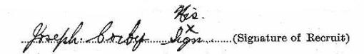 Joseph Corby signature