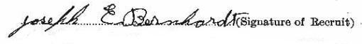 Joseph Edward Barnhardt signature