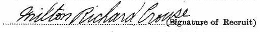 Milton Richard Crouse signature