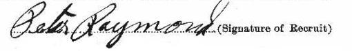 Peter Raymond signature