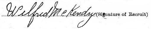 Wilfrid McKendry signature