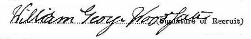 William George Woodgate signature