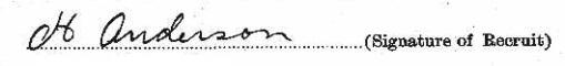 William Harry Anderson signature