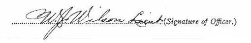 William John Wilson signature