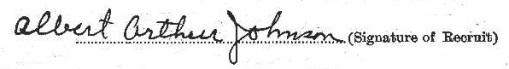 Albert Arthur Johnson signature