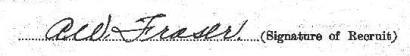 Allan Walton Fraser signature