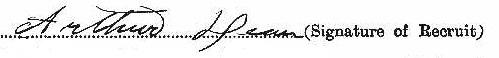 Arthur Dean signature