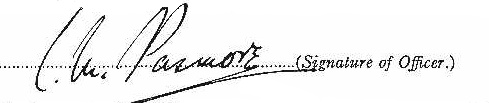 Clarence Mickle Pasmore signature