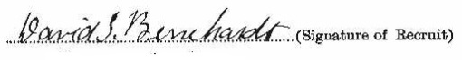 David Stanley Bernhardt signature