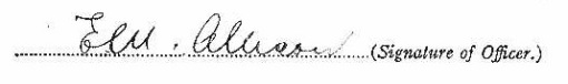 Edith May Allison signature