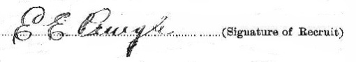 Elmer Eugene Pringle signature