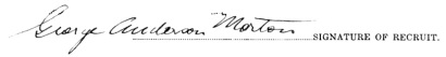 George Anderson Morton signature