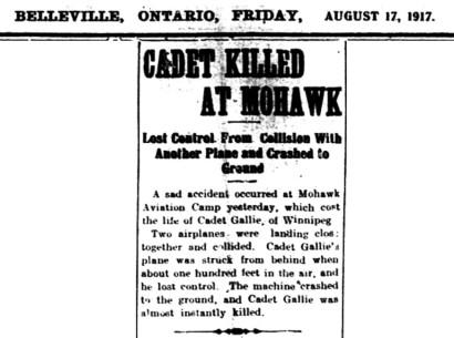 Intelligencer report of W. S. Gallie's death
