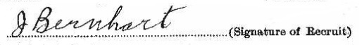 Jacob Bernhart signature