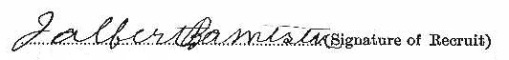 James Albert Banister signature