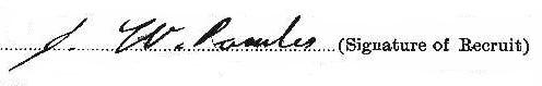 Joab Walter Powles signature
