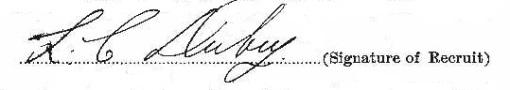 Leo Clarence Dubey signature
