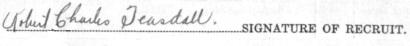 Robert Charles Teasdall signature