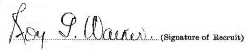 Roy Galbraith Walker signature