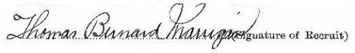 Thomas Bernard Marrigan signature