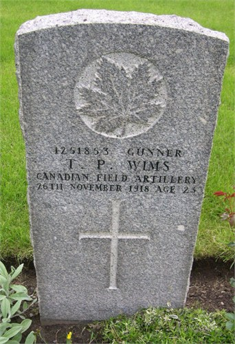 Thomas Peter Wims' grave