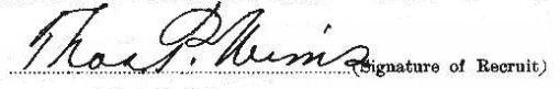 Thomas Peter Wims signature