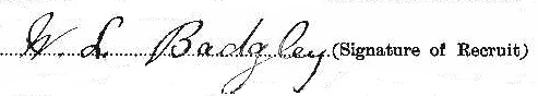 Wilfred Lee Badgley signature