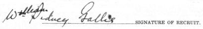 William Sidney Gallie signature