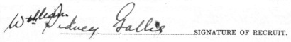 William Sidney Gallie signature