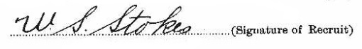 William Skillen Stokes signature