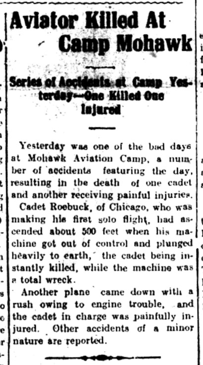 Intelligencer 1917 Oct 22 Roebuck's death