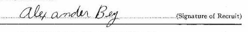 Alexander Bey signature