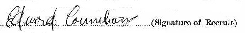 Edward Louis Counihan signature