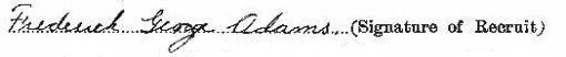 Frederick George Adams signature
