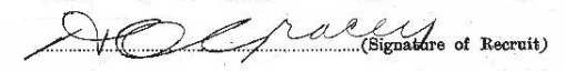 Harold Clement Gracey signature