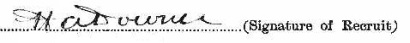 Harry Albert Downer signature