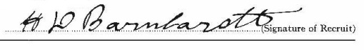Harry Douglas Barnhardt signature