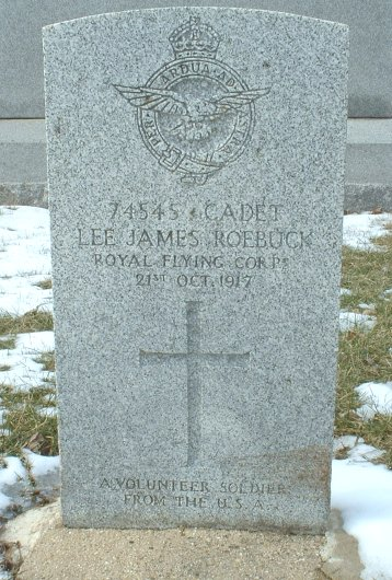 Lee James Roebuck headstone