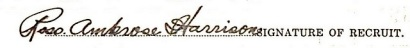 Ross Ambrose Harrison signature