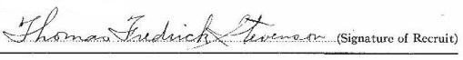 Thomas Frederick Stevenson signature