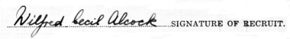Wilfred C. Alcock signature