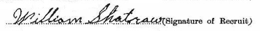 William James Shatraw signature
