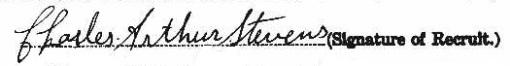 Charles Arthur Stevens signature