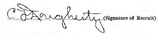 Charles Frederick Dougherty signature