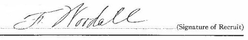 Frederick Edward Woodall signature