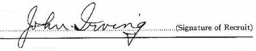 John Henry Irving signature
